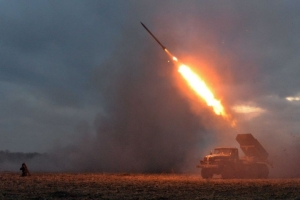 Grad rocket fire, Ukraine (--aw.my.com)