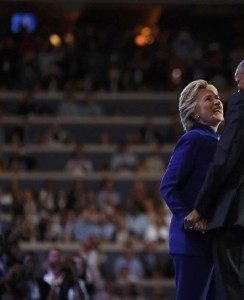 Hillary, Obama, DNC July 2016 (--Reuters/Carlos Barria)