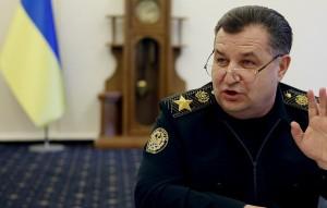 Ukraine Defence Minister Stepan Poltorak (--AP/Sergei Chuzavkov)