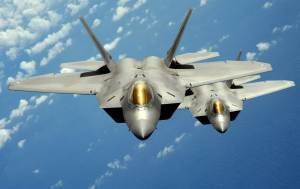 F-22 stealth fighters (--US Air Force)