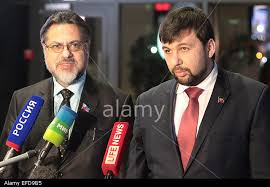 Vladislav Deinego, Denis Pushilin (--alamy.com)