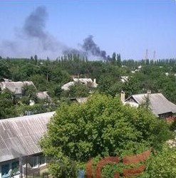 Gorlovka under attack.