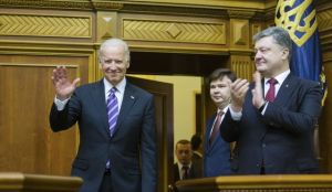 Joe Biden, after addressing parliament in Kiev, with Petro Poroshenko, Dec 8, 2015 (--Washington Times)