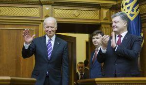 Joe Biden, after addressing parliament in Kiev, with Petro Poroshenko, Dec 8, 2015 (--Washington Times)