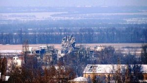 Peski, near Donetsk Airport (--Novorossia.today)
