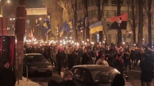 Nazi torch parade (--novorossiavision)