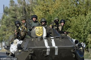 Ukrainian troops outside Mariupol (--AFP/Getty Images)