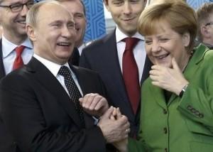 Vladimir Putin, Angela Merkel (--quora.com)