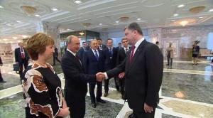 Vladimir Putin, Petro Poroshenko, Minsk, 2-15 (--baltictimes.com)