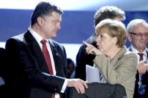 Petro Porkoshenko, Angela Merkel