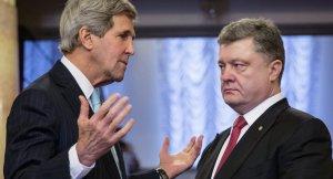 John Kerry, Petro Poroshenko