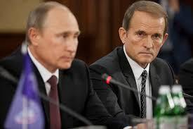 Vladimir Putin and Viktor Medvechuk