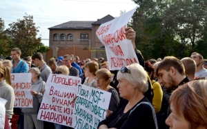 Donetsk protests Doctors Without Borders (--lugansk-news.com)