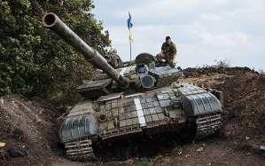 Ukrainian tank camp, (stock photo--telegraph.co.uk)