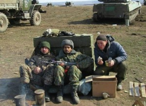 Ayo Beness with NAF soldiers (--Sputnik)