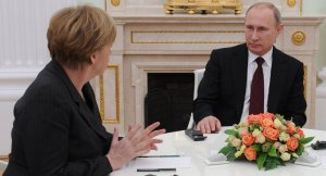 Angela Merkel and Vladimir Putin (--Sputnik)