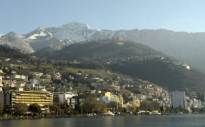 Montreux from Lake Geneva (--Kyiv Post)