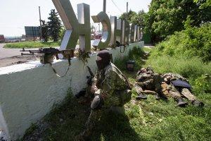 NAF fighters in Slavyansk, near Krasny Liman, May 16, 2014  (--AP,  Alexander Zemlianichenko)