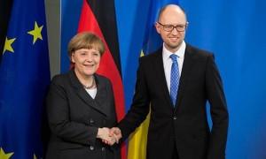 Angela Merkel and Arseny Yatsenyuk (--english.pravda.ru)