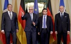 """Normandy"" group foreign ministers meeting in Berlin, January 12 (--Jamestown.org/AFP)"