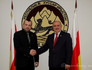 Alexander Kofman and ambassador from South Ossetia to RF (--D. Medoev)