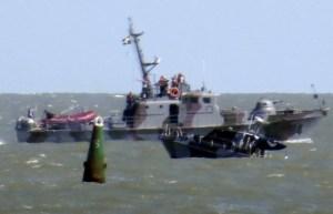 Boat explosion off Mariupol (--dailystar.com)