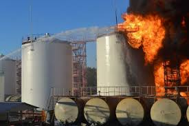 Kiev fuel depot fire (--Timesunion.com)