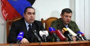 LPR/DPR Prime Ministers Igor Plotnitsky and Alexander Zakharchenko