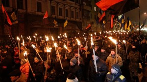 Right Sector torch parade (--rt.com)