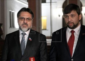 LPR/DPR Contact Group envoys Vladislov Deinego and Denis Pushilin (--efe.com)