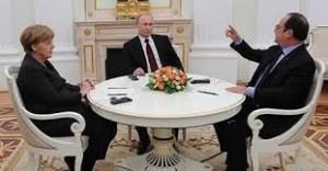 Merkel, Putin, Hollande (--Facebook.com)