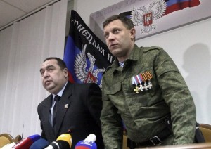 Igor Plotnitsky and Alexander Zakharchenko (--Tass)