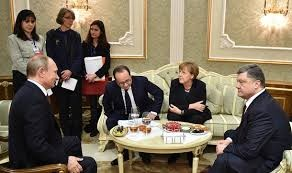 Normandy Four: Putin, Hollande, Merkel, Poroshenko (--Kiev Post)