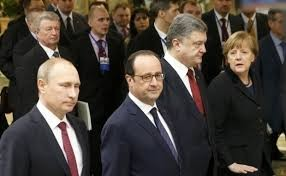 Normandy Four: Putin, Hollande, Poroshenko, Merkel (--unian.com)