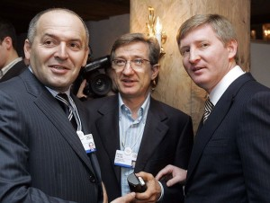 Ukraine business moguls Victor Pinchuk, Sergiy Taruta and Rinat Akhmetov (--Kyiv Post)