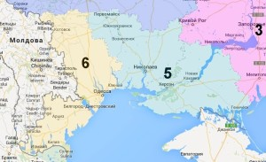 Nikolaev, Kherson and Odessa Regions