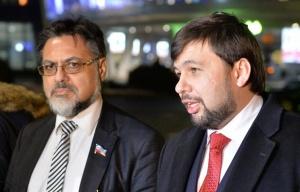 Vladislav Deinego and Denis Pushilin (--Tass)