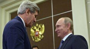 John Kerry, Vladimir Putin (--Sputnik/ Alexey Nikolsky)