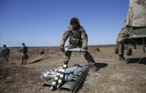 Ukrainian army military drills (--EPA/TASS/Roman Pilipey)