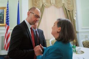 Yatsenyuk and Nuland (--Ukraine Today)