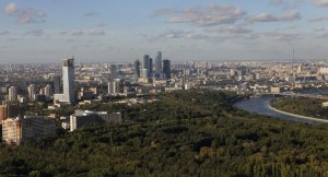 Bird-eye view of Russian capital from University tower (--Sputnik/Alexey Kudenko)