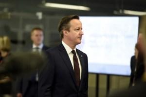 British prime minister David Cameron in Ukraine (--AFP/ Alain Jocard)
