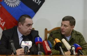 Igor Plotnitsky and Alexander Zakharchenko (--Tass)