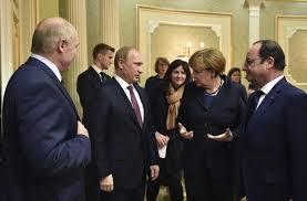 Putin, Merkel, Hollande, Minsk 2.0, February 2015(--ictimes.com)