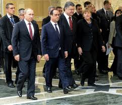 Putin, Hollande, Poroshenko, Merkel at Minsk 2.0 Peace Talks. (--Kiev Post)