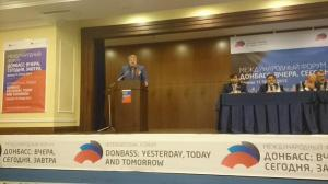 Johan Bäckman of Finland at Donetsk International Forum