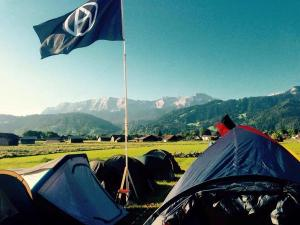 Tents of G7 protestors near Garmisch-Partenkirchen (--Nein)