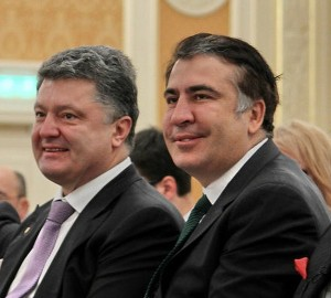 Georgia's former President Mikheil Saakashvili with Kiev regime leader Petro Poroshenko (--Global Research)