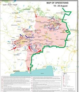 NAF territory August 10, 2014. Crash site at center. (--Slavyangrad) Click to enlarge.