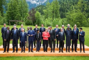 G7 summit, Angela Merkel center (--360nobs.com)